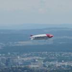 Edelweiss Air Zeppelin NT vom Uetli aus